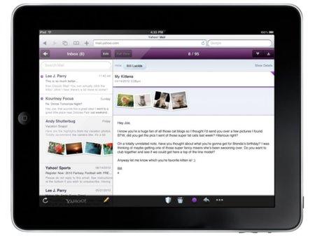Yahoo! y Google mejoran las interfaces de su correo web para el iPad