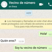 Así es el nuevo reto viral de WhatsApp: escribir un mensaje a tu vecino de número