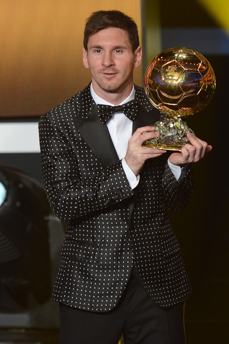 leo messi balon de oro 2012