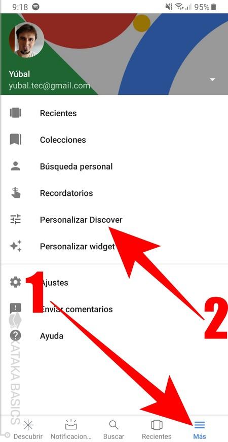 Personalizar Discover 2