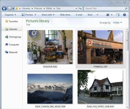 Añade soporte para imágenes RAW a Windows