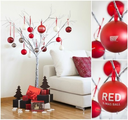 árbol de navidad bolas chocolat factory