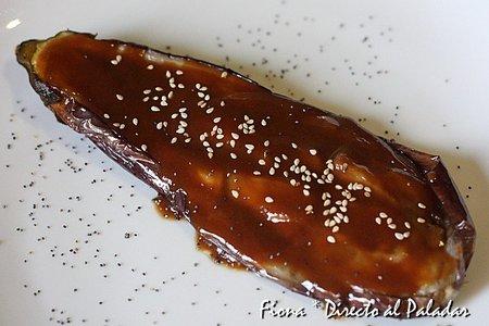 Receta de berenjena con salsa miso
