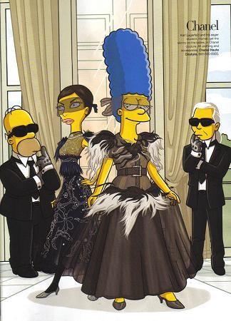 Los Simpsons en Harper's Bazaar
