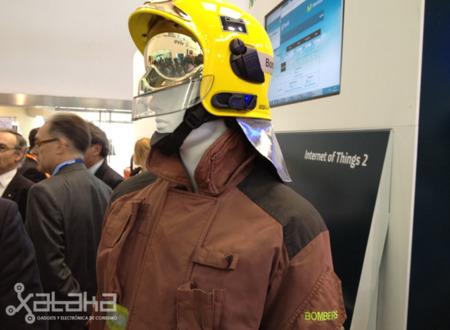Los bomberos del futuro visitan el Mobile World Congress
