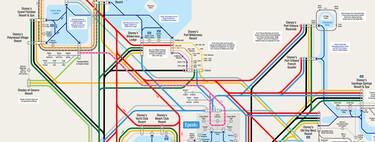 350 buses, 12 trenes, varios barcos: la alucinante red de transporte de Disney World, en un mapa