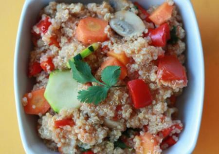quinoa con fruta