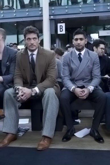 David Gandy, en el front row del desfile de Topman Design en la Semana de la Moda de Londres