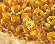 Tarta de tortellinis con jamón