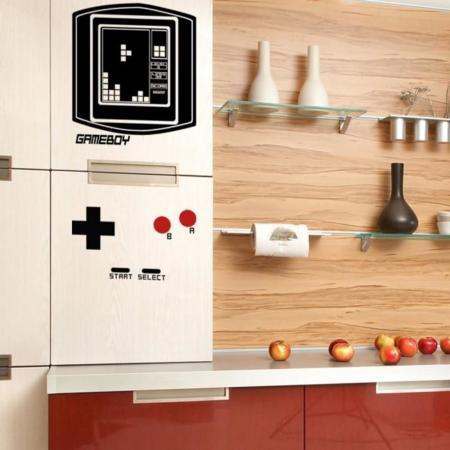 """Dale un toque """"gamer"""" a tu cocina con estos vinilos de Game Boy"""