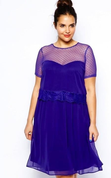 Vestido azul klein asos curve