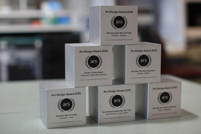 ars design awards premios software mac os x technica