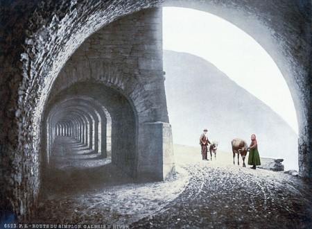 The Winter Gallery Of The Simplon Pass Valais