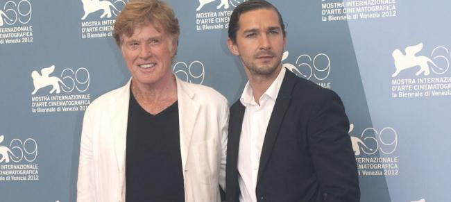 Robert Redford y Shia LaBeouf