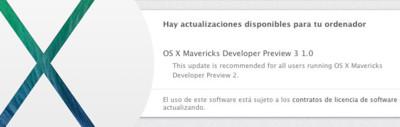 OS X Mavericks Developer Preview 3 ya disponible