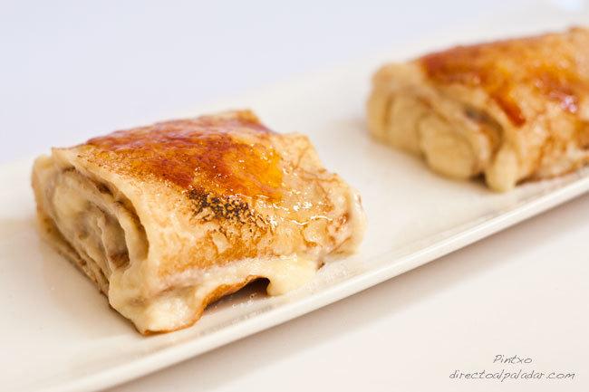 Crêpes con crema catalana