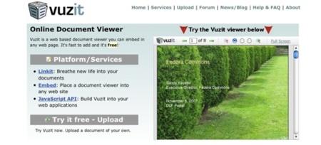 Vuzit, utilidades para permitir la navegación online en los PDF