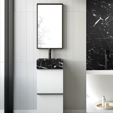 Este mueble es la solución ideal para cuartos de baño pequeños (y sin renunciar al diseño)