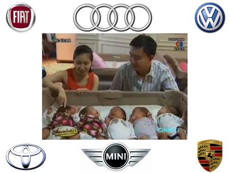 La madre de unos sextillizos les llama Audi, Porsche, Mini, Volkswagen, Fortune y Fiat