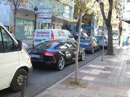Un Audi R8 paseándose por Marbella