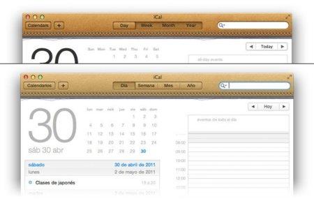 mac os x lion apple ical interfaz diseño