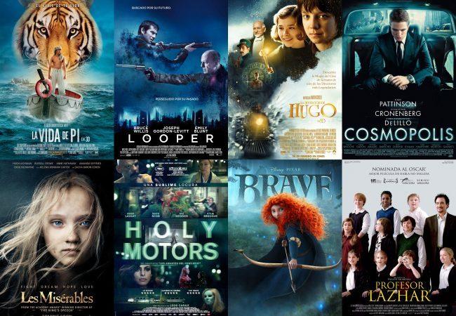 Los carteles de algunas de las mejores películas de 2012