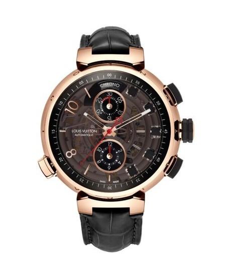 Reloj Tambour Spin Time Regata en Oro Rosa de Louis Vuitton, excelente edición limitada
