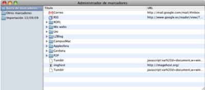 Las últimas builds de Chromium para Mac OS X ya incluyen un gestor de favoritos