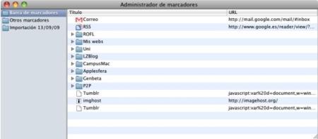 Las últimas builds de Chromium para Mac OS X ya incluyen un gestor de favoritos