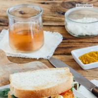 Sándwich de pescado al curry. Receta fácil