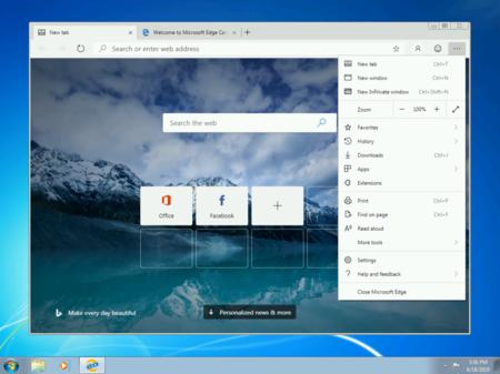 Microsofg Edge Chromum Windows 7