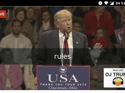 ¿No te gusta el discurso de Trump? Crea el tuyo con DJ Trump