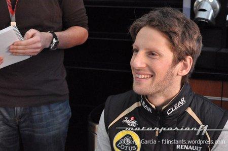 Romain Grosjean, relajado y confiado