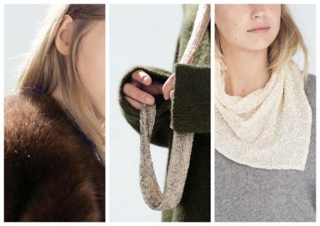 estolas, bufandas de Zara