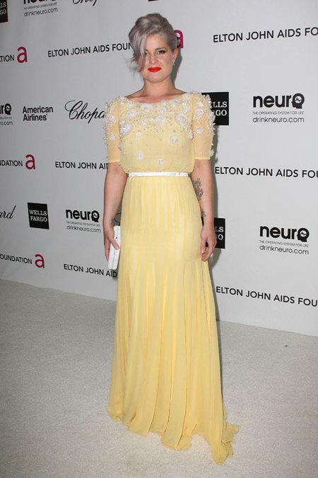 Kelly Osbourne en la fiesta de Elton John 2012