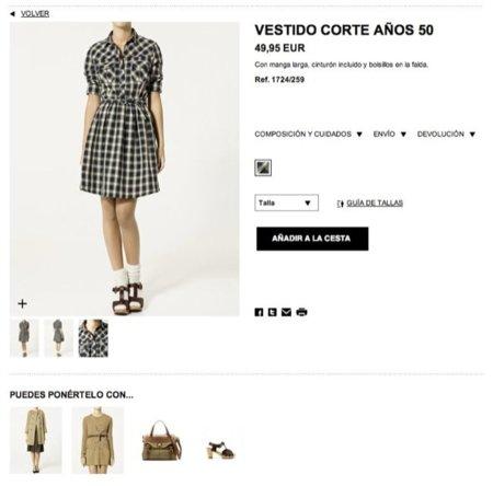 Zara estrena su tienda online. Vestido