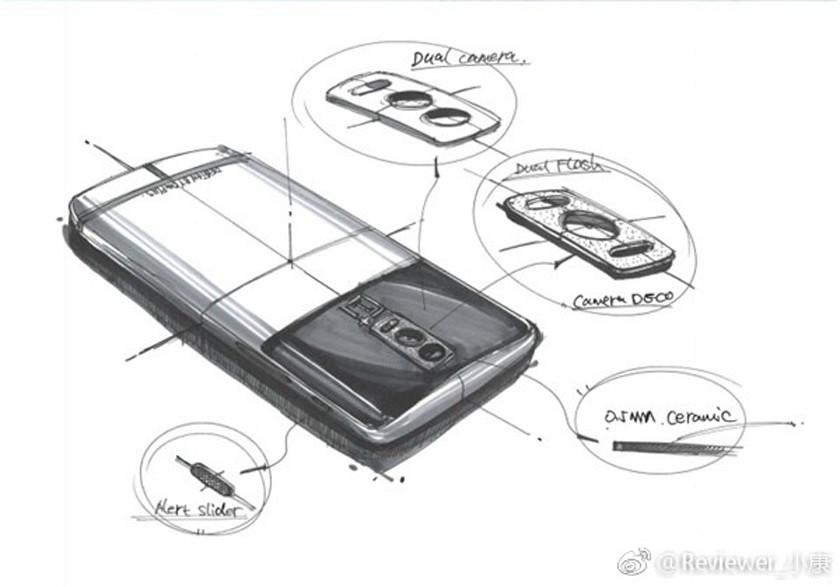 Oneplus 5 Prototipo Sketch