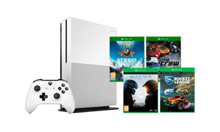 Esta mañana, en Mediamarkt, tienes la Xbox One S de 500 GB con 4 juegos, por sólo 219 euros