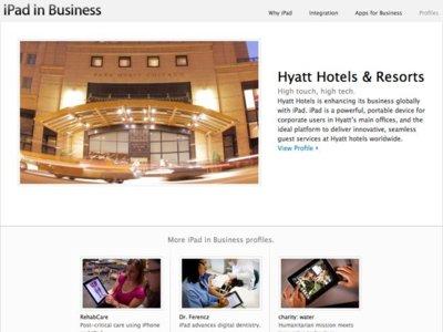 Apple promociona el iPad en entornos profesionales