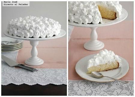 Tarta especial de piña, crema y nata, receta fácil y resultona