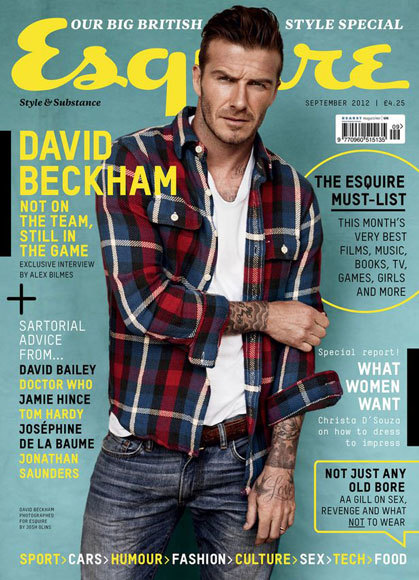 David Beckham, portada de Esquire UK