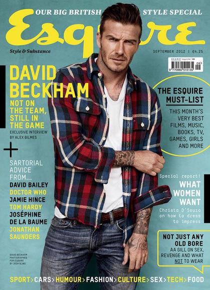 David Beckham lucirá camisa de cuadros en el número de septiembre de Esquire UK