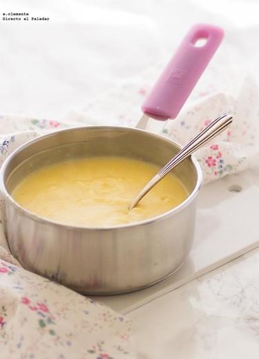 Cómo hacer crema pastelera sin leche. Receta