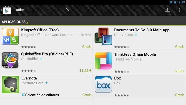 Cuatro aplicaciones para manejar documentos ofimáticos desde los móviles y tablets
