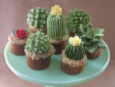 Los realistas cupcakes vegetales de Alana Jones Mann