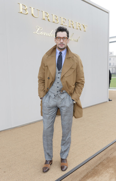 David Gandy Wearing Burberry At The Burberry Menswear January 2016 Show