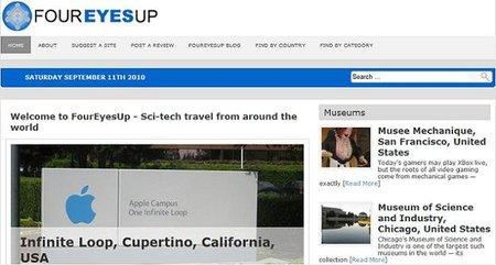 FourEyesUp, guía online con destinos relacionados a la ciencia y la tecnología