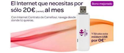 Carrefour móvil mejora su oferta de Internet móvil, mismas condiciones para prepago y contrato