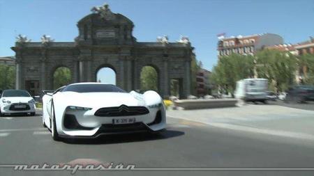 El GTbyCITROËN rodando por Madrid