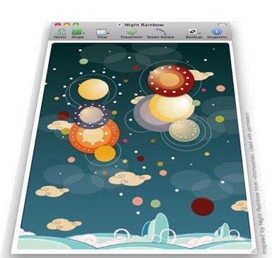 Ejemplo de ilustración realizada con Sketch, Night Rainbow